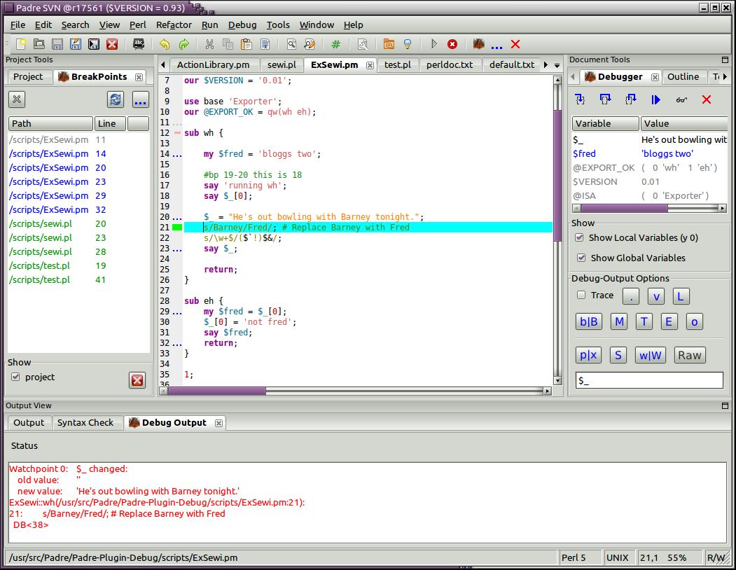 Perl 5 Debugger